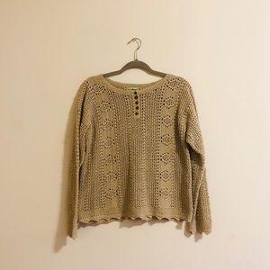 L.L. Bean Crochet Sweater